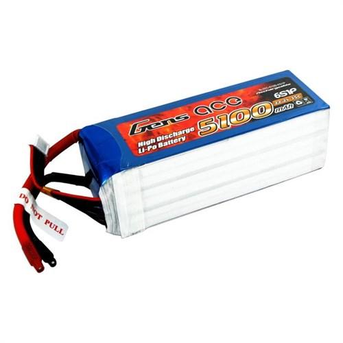Gens Ace 5100Mah 22.2V 35C 6S1p Lipo Batarya