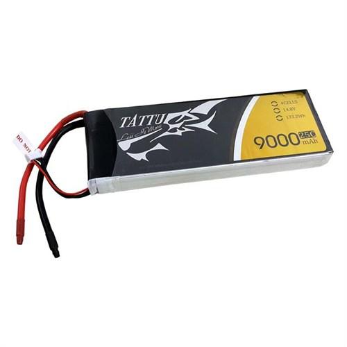 Gens Ace Tattu 9000Mah 14.8V 50C 4S2p Lipo Batarya