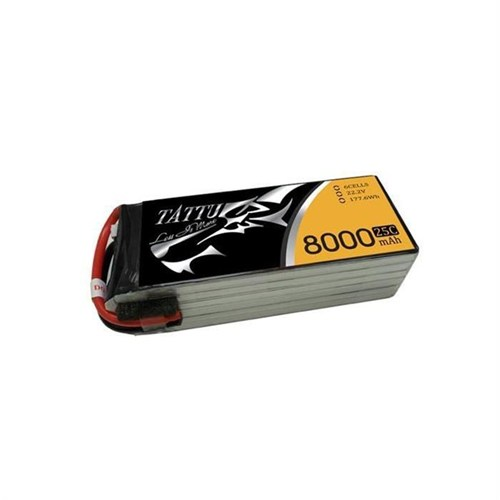 Gens Ace Tattu 8000Mah 22.2V 25C 6S1p Lipo Batarya
