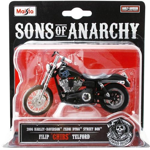 Maisto Sons Of Anarchy 2006 Harley Davidson Chıbs 1:18 Model Motosiklet