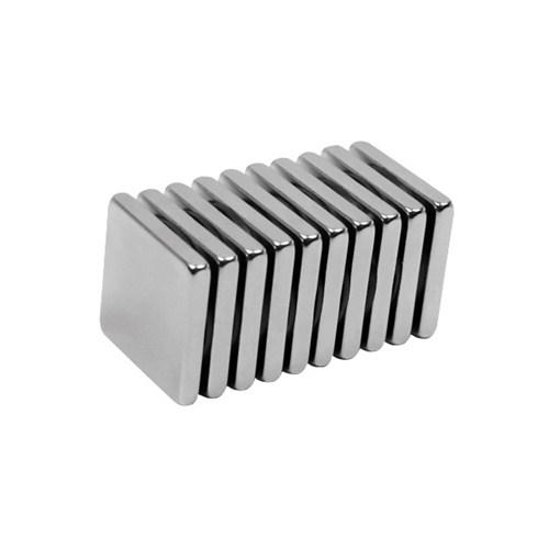 Neodyum Mıknatıs Blok 20x20x3 mm (6`lı Paket)