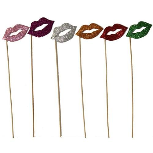 Pandoli 6 Lı Renkli Simli Dudak Çubuk