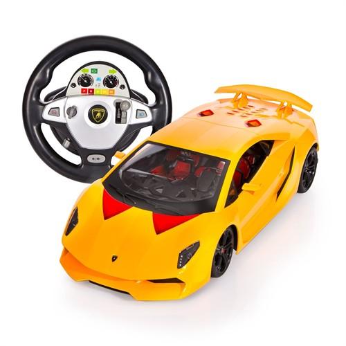 Vardem Direksiyon Kumandalı Şarjlı 1:12 Lamborghini, Sarı