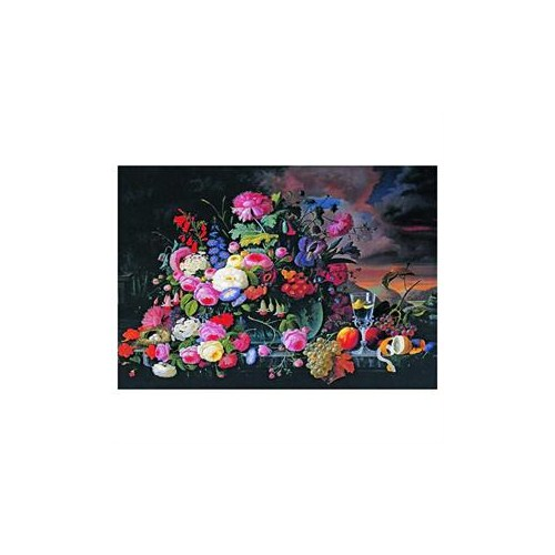 Anatolian Puzzle Çiçekli ve Meyveli Natürmort (500 Parça)