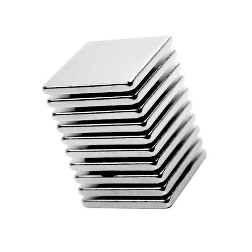 Neodyum Mıknatıs Blok 20x20x2 mm (10`lu Paket)