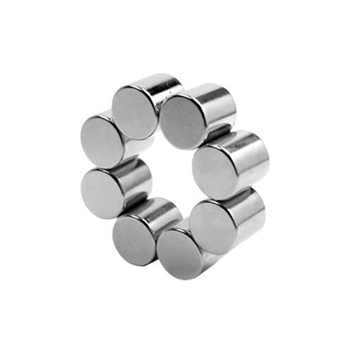 Neodyum Mıknatıs Silindir D10x10 mm (Diamag) (6'lı Paket)