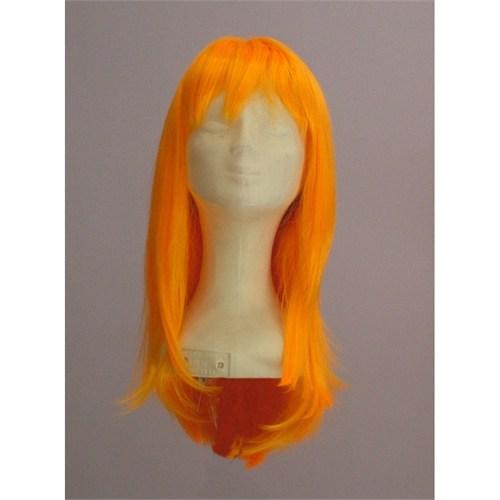 Sentetik Uzun Turuncu Saç