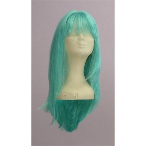 Sentetik Uzun Yeşil Saç