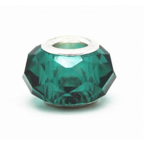 Angemiel Kristal Yeşil Murano Gümüş Kaplama Charm İle Kendi Tarzını Yarat