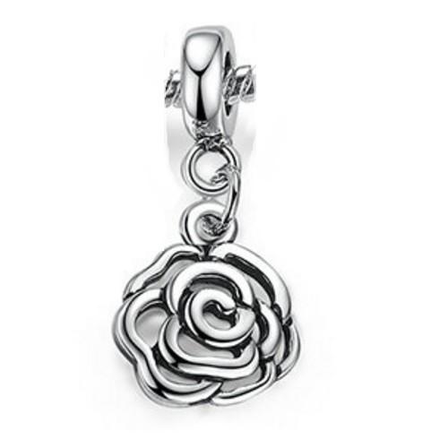 Angemiel Çiçek Sallanan Gümüş Kaplama Charm İle Kendi Tarzını Yarat