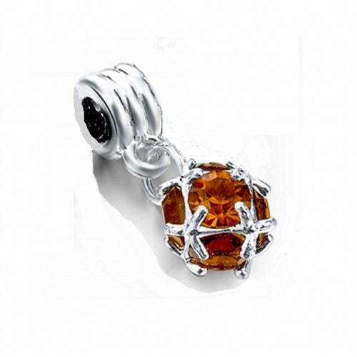 Angemiel Karamel Rengi Kristal Gümüş Charm İle Kendi Tarzını Yarat