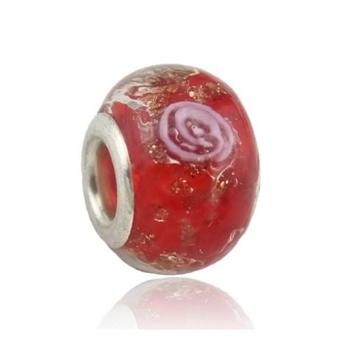 Angemiel Kırmızı Simli Murano Charm İle Kendi Tarzını Yarat