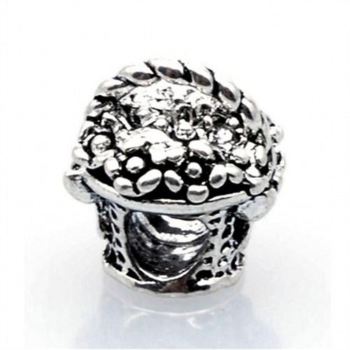Angemiel Çiçek Sepeti Figürlü Gümüş Charm İle Kendi Tarzını Yarat