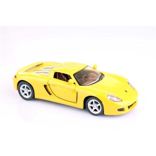 Sarı Porsche Carrera Gt 1/36 Çek Bırak Die-Cast Model Araç