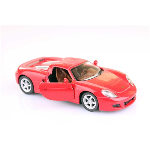 Kırmızı Porsche Carrera Gt 1/36 Çek Bırak Die-Cast Model Araç