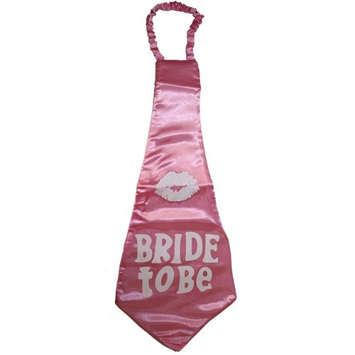 Pandoli Bride To Be Yazılı Mega Boy Kravat Pembe