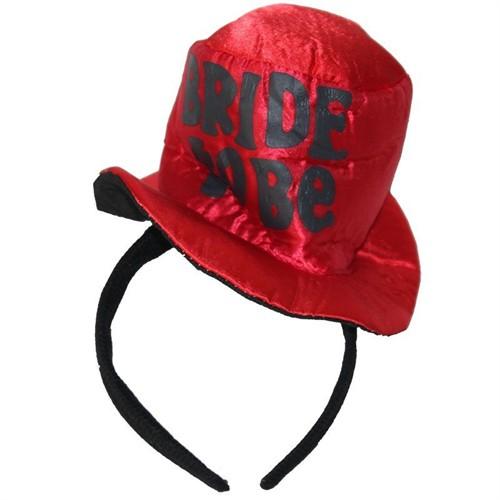 Pandoli Bride To Be Yazılı Şapka Model Taç Kırmızı