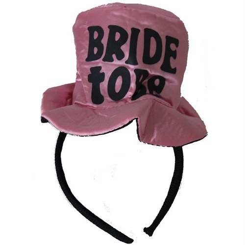 Pandoli Bride To Be Yazılı Şapka Model Taç Pembe