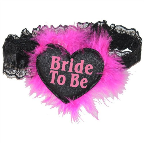 Pandoli Pembe Otrişli Bride To Be Bacak Bandı