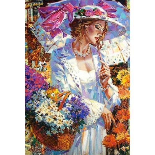 1000 Parça Chrysanthemums İn The Garden Puzzle (Castorland)