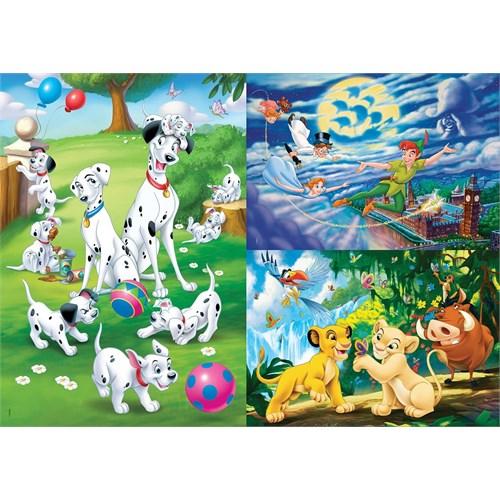 Clementoni 25212 - 3X48 Parça Disney Puzzle