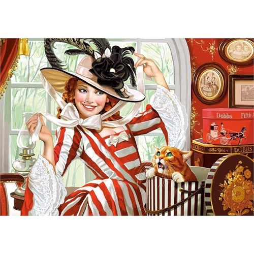 Castorland 500 Parça Puzzle Leydi Ve Şapkası