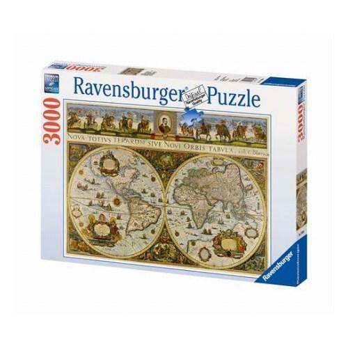 Ravensburger Tarihi Dünya Haritası - Blaeuw (3000 Parça)