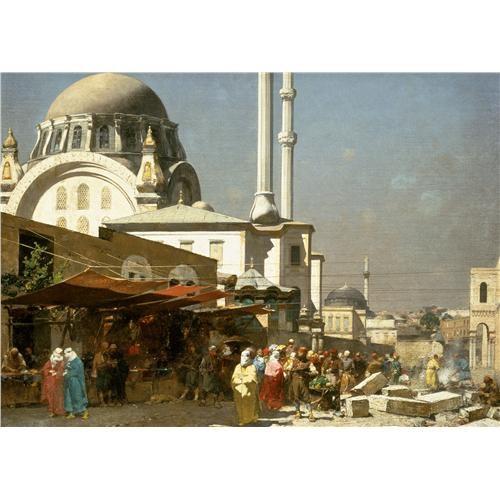 Ravensburger İstanbul'un Pazar Yeri (1000 Parça, Osmanlı Klasikleri)