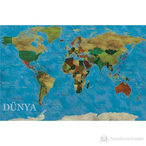 Gold Puzzle 453 Parça Şekilli Dünya Haritası