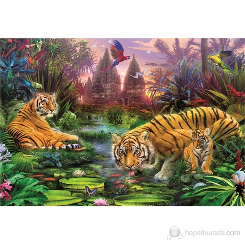 Educa 500 Parça Puzzle Tigers At The Ancient Stream