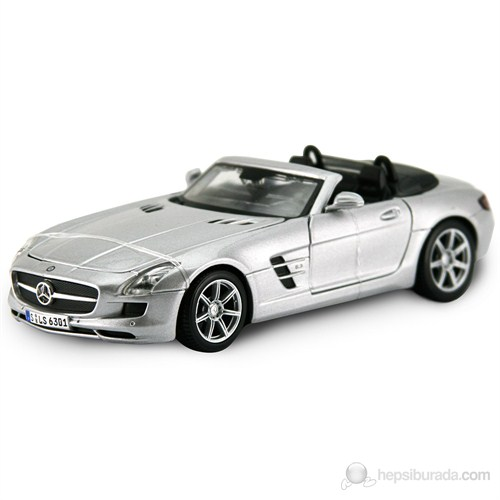 Maisto Mercedes-Benz Sls Amg Roadster Model Araba 1:24 Special Edition Gri