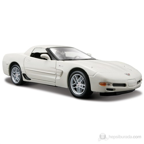 Maisto Corvette Z06 Model Araba 1:24 Special Edition Beyaz