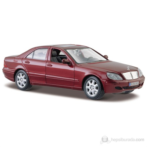 Maisto Mercedes-Benz S-Class Diecast Model Araba 1:24 Bordo