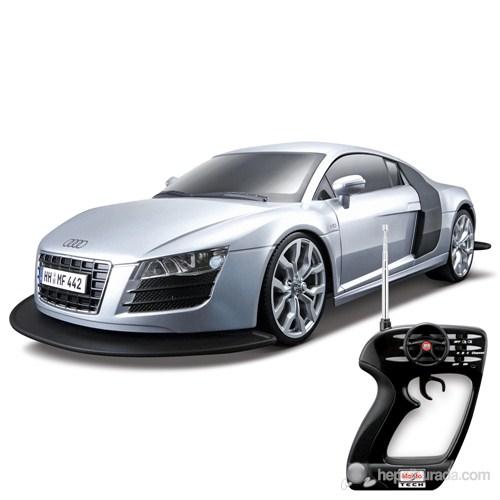 Maisto Audi R8 V10 Uzaktan Kumandalı Araba 1:10 Maisto Tech Gri