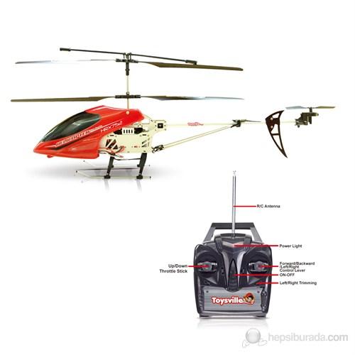 Toysville HRX-752 Antracopter Gyrolu (4 Kanal 73 cm) Kumandalı Helikopter Kırmızı