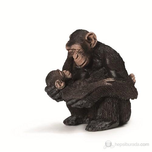 Schleich Şempanze Anne Ve Yavru 14679