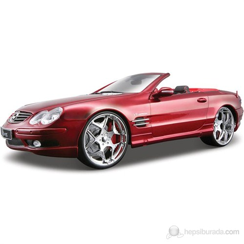 Maisto Mercedes Benz Sl 55 Amg Convertible Model Araba 1:18 AllStars Kırmızı
