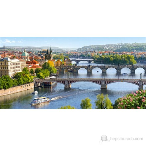 Castorland 4000 Parça Vltava Bridges İn Prague Puzzle