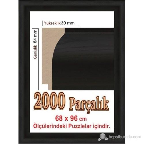 Heidi Siyah Renk Puzzle Çerçevesi 2000 Parça İçin 96 X 68 Cm