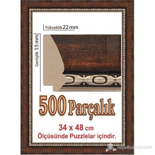 Heidi Polistiren Puzzle Çerçevesi 500 Parça İçin 48 X 34 Cm