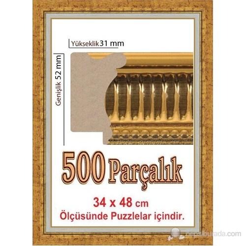 Heidi Gold 500 Parça İçin Puzzle Çerçevesi 48 X 34 Cm