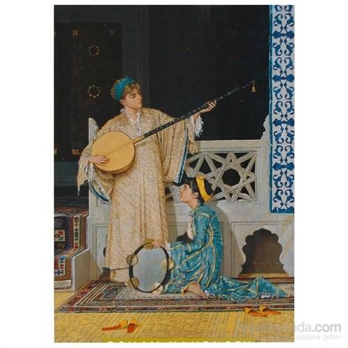 Ravensburger İki Müzisyen Kız-Osman Hamdi Bey 1000 Parça Türk Sanat Eserleri