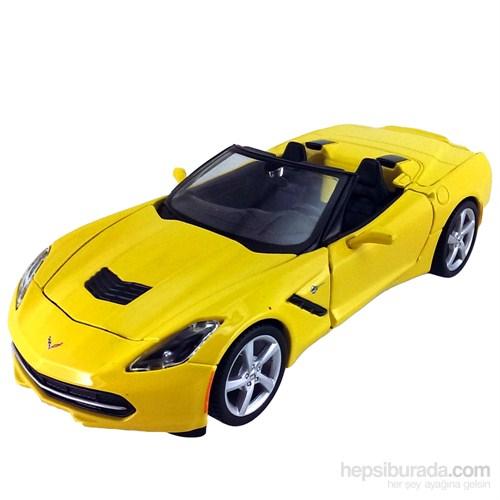 Maisto 2014 Corvette Diecast Model Araba 1:24 Special Edition Sarı