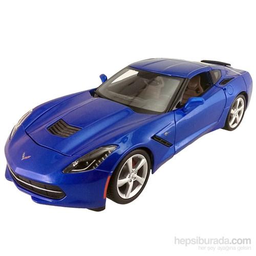 Maisto 2014 Corvette Stingray Coupe Model Araba 1:24 S/E Mavi