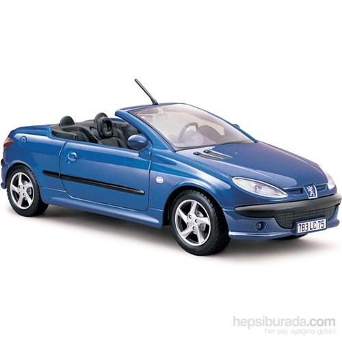Maisto Peugeot 206Cc Diecast Model Araba 1:24 Special Edition Mavi