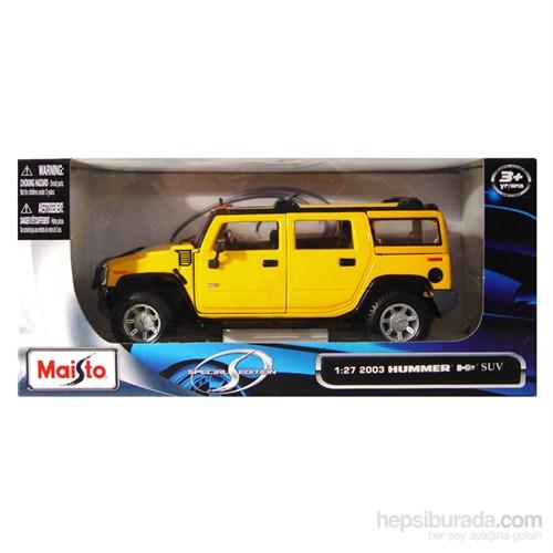 Maisto 2003 Hummer H2 Suv Model Araba 1:24 Special Edition Sarı
