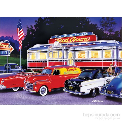 Masterpieces 1000 Parça Puzzle Dinner At The Red Arrow - Cruisin'