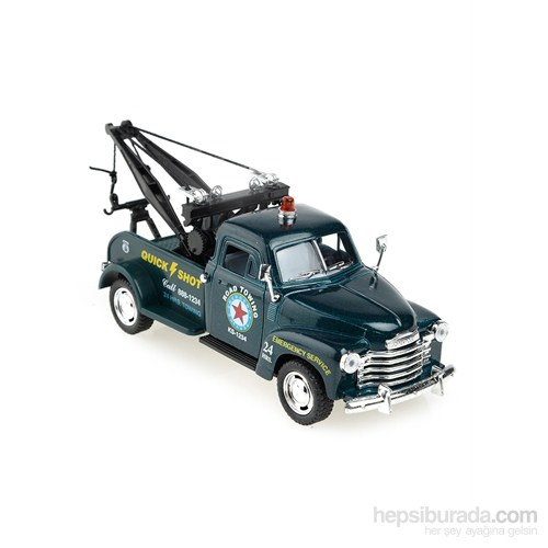 Kinsmart 1953 Chevrolet 3100 Wrecker Çek Bırak 1/38 Die Cast Model Araç Yeşil
