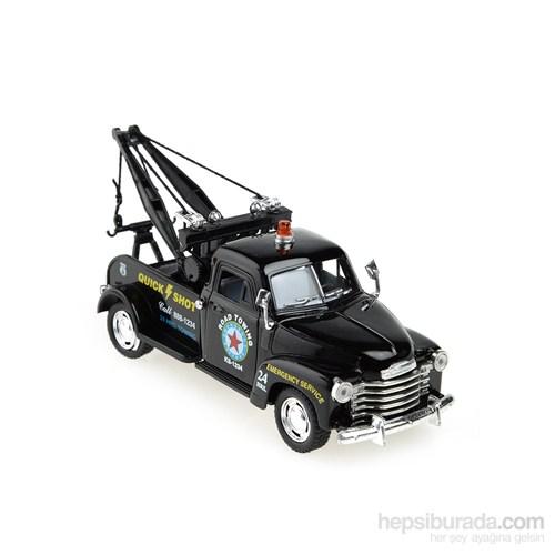 Kinsmart 1953 Chevrolet 3100 Wrecker Çek Bırak 1/38 Die Cast Model Araç Siyah