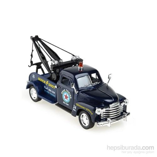 Kinsmart 1953 Chevrolet 3100 Wrecker Çek Bırak 1/38 Die Cast Model Araç Mavi